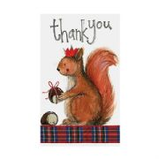 Alex Clark Squirrel Pack of 5 Christmas Thank You Cards